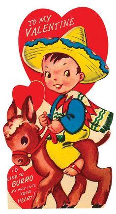 I'd Like to Burro... Vintage Valentine: