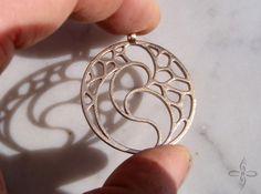 Guardian pendant 3d printed Raw bronze