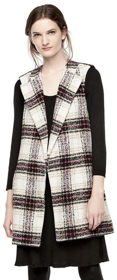 Thakoon for Kohl's Oversized Plaid Flannel Vest