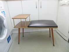 VINTAGE 1960s TELEPHONE TABLE - RETRO FURNITURE - COLLECT FROM BIRMINGHAM