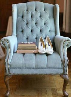 Blue Tufted Wing Back Chair Ana Rosa Settee Sofa Bench Painted Chairs