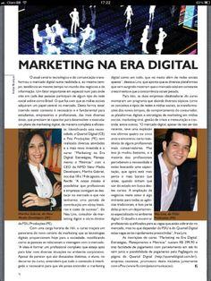 Matéria sobre o Curso Marketing na Era Digital com a Martha Gabriel e Ney Lins na Revista Pronews