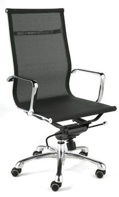 Arm rest office chair - Pin it :-) Follow us :-)) AzOfficechairs.com is your Office chair Gallery ;) CLICK IMAGE TWICE for Pricing and Info :) SEE A LARGER SELECTION of  arm rest office chair at http://azofficechairs.com/category/office-chair-categories/arm-rest-office-chair/ -  office, office chair, home office chair - ITALMODERN Merrill High Back Office Chair, Black Mesh « AZofficechairs.com