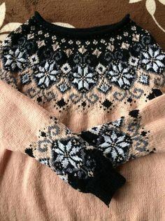 Knitting pattern Icelandic Sweater Design Together - Christine Knoller - Strickstudio Fair Isle Knitting Patterns, Knitting Charts, Knitting Stitches, Knit Patterns, Hand Knitting, Fair Isle Pullover, Icelandic Sweaters, Sweater Design, Pulls