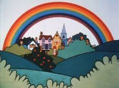 children's tv shows - Rainbow. Up above the streets and house, rainbow flying high. 1970s Childhood, My Childhood Memories, Star Wars Memorabilia, Kids Tv Shows, Old Tv, Classic Tv, My Memory, The Good Old Days, Old Things