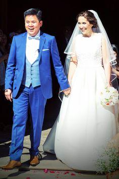 Joseph avec une tenue de chez L'Atelier 5 pour  son mariage.