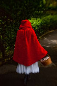 Red Riding Hood pattern- or a hooded cloak in a different color. Pattern available at Ravelry