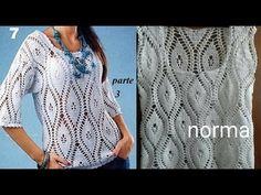 Blusa blanca a crochet parte 3