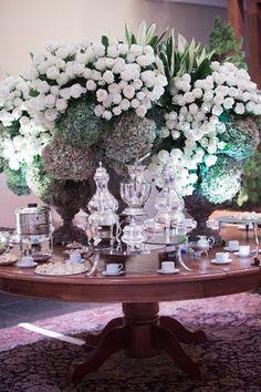 Mesa de chá - Decoração Branca