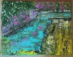 Riverside by IsabellaMoonStudio on Etsy Drawings, Handmade Gifts, Artwork, Promotion, Moon, Painting, Etsy, Vintage, Studio