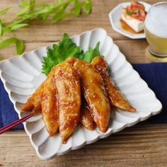 Korean Food, Japanese Food, Chicken Wings, Poultry, Food And Drink, Sweets, Meat, Cooking, Breakfast