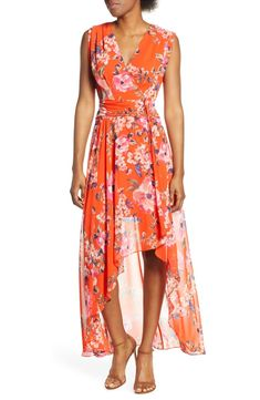 Find Eliza J Floral High/Low Maxi Dress (Regular & Petite) online. Shop the latest collection of Eliza J Floral High/Low Maxi Dress (Regular & Petite) from the popular stores - all in one Chiffon Maxi Dress, Fit Flare Dress, Nordstrom Dresses, Casual, Dresses With Sleeves, Clothes For Women, Work Clothes, High Low, Bar Outfits
