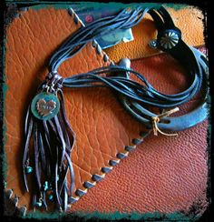 Bohemian Cowgirl Leather Fringe and Copper Love by LivingFreeByEP, $48.00