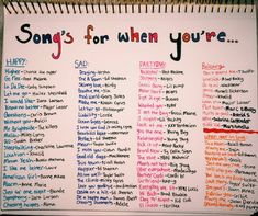 Weddings Discover Songs for when you& feeling a specific emotion playlist bullet journal Mood Songs Music Mood Upbeat Songs Good Vibe Songs What To Do When Bored Things To Do When Bored For Teens Song Suggestions Song Playlist Summer Playlist Music Mood, Mood Songs, Upbeat Songs, What To Do When Bored, Things To Do When Bored For Teens, Things To Do With Your Boyfriend, Things To Do At A Sleepover, Things To Ask Siri, Good Vibe Songs