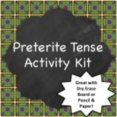 Spanish Preterite Tense grammar practice activities - every type of verb there is included.