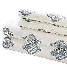 Medallion 200 Thread Count Egyptian-Quality Cotton Sheet Set