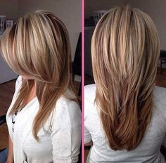 Fine Hair Layered Cut for Women