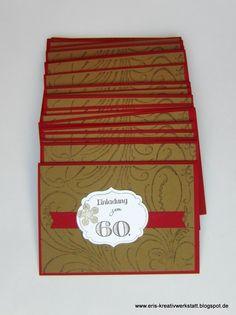 #Vintage-Einladungen zum 60. #Geburtstag   http://eris-kreativwerkstatt.blogspot.de/2015/11/vintage-einladungen-zum-60-geburtstag.html  #stampinup #teamstampingart #einladung #karte