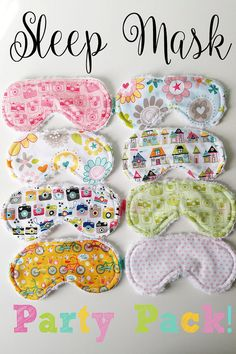 Are you looking for a fun favor for your daughter's next slumber party? The Sleep Mask Party Pack is everything you need to host a fun, comfy sleep over! https://www.etsy.com/listing/277160404/sleep-mask-party-favor-idea-8-piece?ref=shop_home_active_3