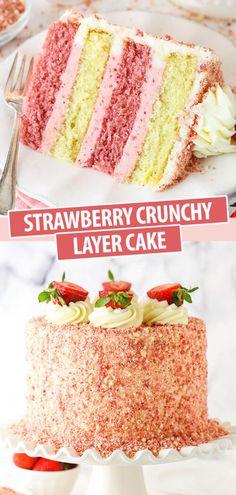 Baking Recipes, Dessert Recipes, Layer Cake Recipes, Birthday Cake Recipes, 2 Layer Cakes, Homemade Cake Recipes, Delicious Cake Recipes, Poke Cakes, Cupcake Recipes
