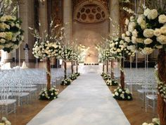wedding ceremony idea via edge floral. To see more: www.modwedding.com