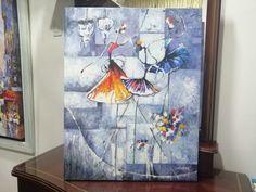 Obras modernas pintadas a mano en todos los estilos y formatos. Painting, Modern Paintings, Artworks, Abstract, Art Production, Painting Art, Paintings, Painted Canvas, Drawings
