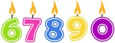Silhouette Design Store - View Design #5319: birthday candles 67890