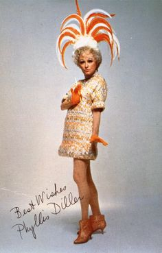 Funny Lady Phylis Diller in Bob Mackie