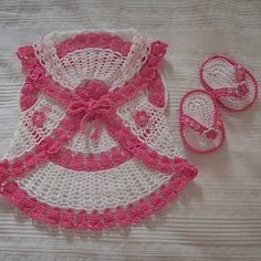 Crochet Guide: Cardigan and flip flop for baby