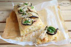 #plumcake di #sfoglia farcito con del #pollo, #melanzane grigliate e scaglie di #parmigiano. #ricetta #foodporn #gialloblogs