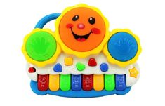 L&J Drum Keyboard Musical Toys With Flashing Lights, Animal Sounds, And Songs 01