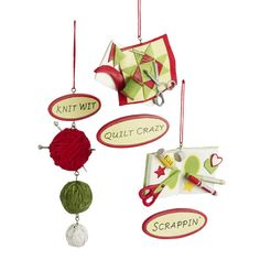 Item # 261879 - Resin Knit Wit/Quilt Crazy/Scrappin' Christmas Ornament