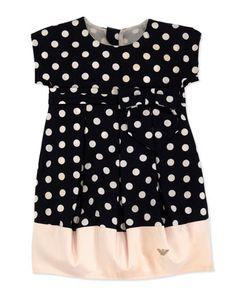 Armani Junior Polka-Dot Bubble Dress, Sizes 2-8 - Neiman Marcus