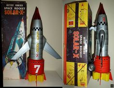 Space Rockets - SOLAR-X ROCKET 7 - NOMURA - JAPAN - ALPHADROME ROBOT AND SPACE TOY DATABASE