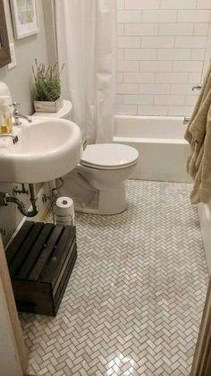 MSI Carrara White Basketweave 12 in. x 10 mm Polished Marble Mesh-Mounted Mosaic Tile sq. / case) - - The Home Depot Marble Tile Bathroom, Bathroom Floor Tiles, Ceramic Tile Bathrooms, Shower Floor, Basket Weave Tile, Bathroom Inspiration, Bathroom Ideas, 1920s Bathroom, Master Bathroom