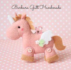 Barbara Handmade...: Filcowe jednorożce / Felt unicorns