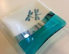 Image result for fused glass christmas candy dish