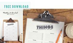 printable organize your week sheet