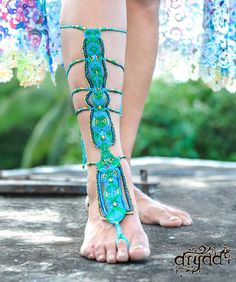 The Gladiator ~ Macrame Barefoot Sandal ~ Free Shipping by TheDryadStore on Etsy