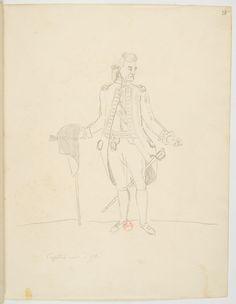 FLORENCE, Hercule - Capitão môr d'Ytû[sic] [Desenho do Carnet de dessins] - 1825 - Grafite sobre papel - 24,7 x 19,3 cm - Coleção Bibliothèque Nationale de France (Paris)