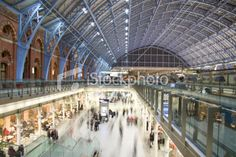 View top-quality stock photos of Modern Railway Station. Find premium, high-resolution stock photography at Getty Images. Architectural Features, Architecture Photo, Image Now, Louvre, Train Stations, Stock Photos, London, Airports, Modern