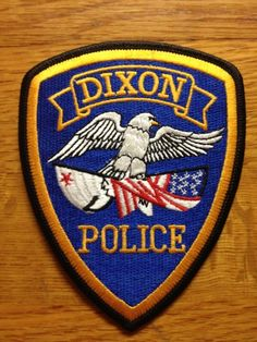 Dixon, California Police Patch with Bear Flag | Bear Flag Museum