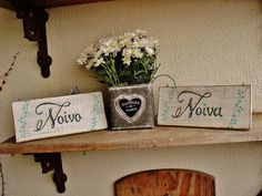 Set de Placas Noivo/Noiva Tiffany