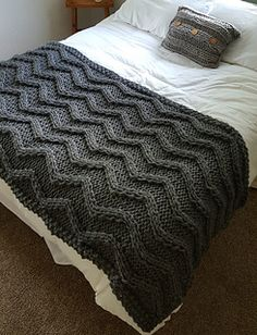 A chevron pattern made by cabling!! No increases or decreases!