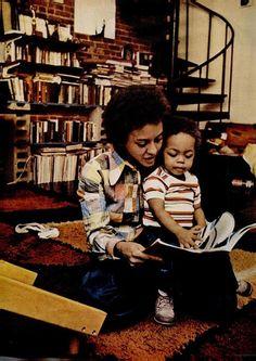 Poet/Professor Nikki Giovanni and her son Thomas, c.1972