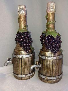 f8b97509 Купить бутылка-светильник - подарок на новый год, светильник ручной работы, комбинированный, бутылка декоративная