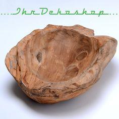 Unikat Teakholzschale Schale Holz Dekoration Obstschale rustikal massiv Ø30-60cm