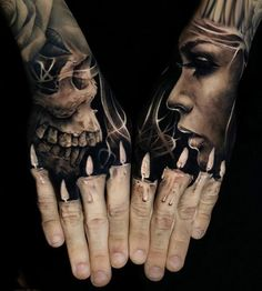 One of the best tattoos you will ever see; black & grey  (Artist unknown).