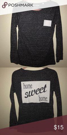 ✨home sweet home colorado long sleeve tee✨ Heathered gray long sleeve shirt. Home sweet home colorado! Never worn! Tops Tees - Long Sleeve