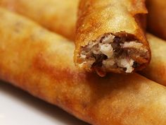 "Lumpia is a very common South East Asian pastry of Chinese origin.  The term lumpia came from the Chinese term ""lunpia"", which is a similar dish.  Usually made out of minced meat and chopped..."